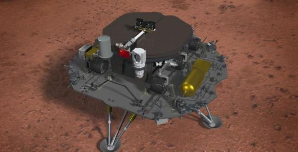 China's probe lands on Mars